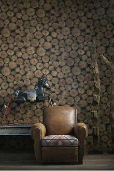 Ilusão de ótica e cores sóbrias marcam as coleções de papel de parede da Andrew Martin