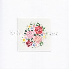 watercolour painting on 500 g/m² paper; Rose Bouquet, Watercolour Painting, Charity, Collections, Paper, Gifts, Bouquet Of Roses, Presents, Favors