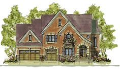 HousePlans.com 20-1393 like the floor plan not the style of the home