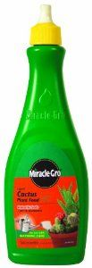 Miracle-Gro 100054 Liquid Cactus Plant Food, 8-Ounce by Miracle-Gro. $5.99. *. Analysis: 2-7-7. Instantly feeds cacti and succulents. Specially formulated for all cacti, jade, aloe and other popular succulents. For all your house plant needs, Miracle-Gro's Plant Food meets the unique needs of all indoor plants and promotes beautiful results for all flowering and foliage houseplants.