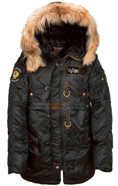 Куртка аляска Alpha Industries N-3B 55th Anniversary Parka (чорна) Розміри: L,XL Ціна: 430 $