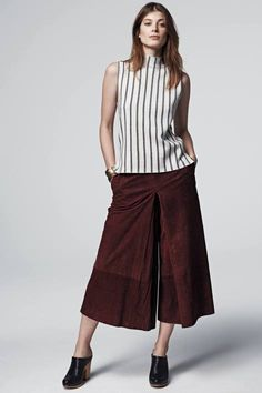 Sueded Midi Crops by Raoul | Pinned by topista.com