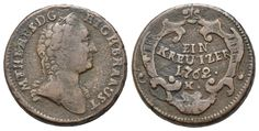 Kreuzer 1762 K, Kremnitz. Maria Theresia, Alter, Coins, Personalized Items, Old Coins, Rooms