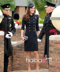 kate middleton casual style | 2013 New fashion Quality Princess Kate Middleton woolen Vintage Doube ...