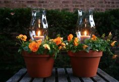 These Flower Pot Votive Candle Holders will make a beautiful addition to your home and they are an easy and inexpensive upcycle.