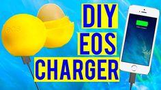 diy eos phone charger iphone diys do it yourself teen teens teenager high school… Eos Diy Crafts, Crafts To Do, Diy Crafts For Kids, Eos Lip Balm, Lip Balms, Tumblr Room Decor, Lip Balm Containers, Diy School Supplies, Diy Slime