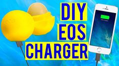 diy eos phone charger iphone diys do it yourself teen teens teenager high school middle school eos lip balm container phone holder charm decoration simple easy tumblr room decor eos lip balm how to decorate eos art diy whats on my iphone application