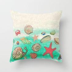Sea Treasure Throw Pillow by baba yagada - $20.00