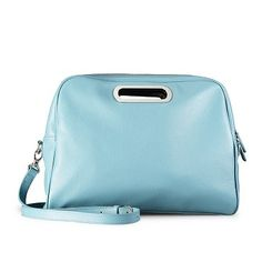 Mod Style Blue Calfskin Leather Messenger Bag With Shoulder Strap | XIAOZHI  www.icarryalls.com