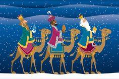 les 3 rois mages-- l'Épiphanie Para alguns povos, é no Dia dos Reis Magos que as crianças ganham presentes, e não no Natal