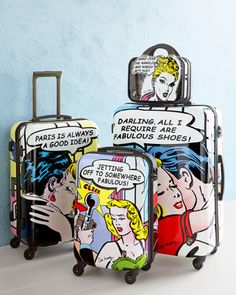 Never confuse your bag again! #PopCulture #luggage #flyinstyle/ If you have extra luggage, donate it to foster kids or homeless shelters!