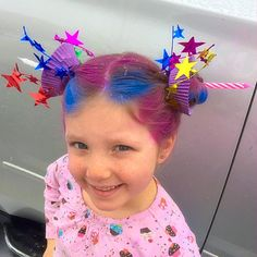 Halloween When Their Schools Held Crazy Hair Day, These 15 Kids' Families Delivered the Weirdest, Wackiest 'Dos EVER 11 - Woman's World Crazy Hair Day Girls, Crazy Hair For Kids, Crazy Hair Day At School, Days For Girls, Crazy Hair Days, Crazy Day, Little Girl Hairstyles, Cool Hairstyles, Halloween Hairstyles