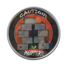 Caution Monsters!   Candy Tin. Look for more Halloween Designs in my store!  Designs by DonnaSiggy.