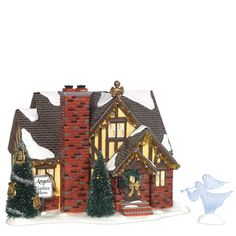 christmas shoppe department 56 snow village angel house - Ceramic Christmas Houses