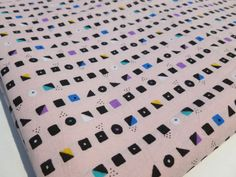 Pale Pink Geometric Fabric