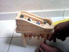 Wooden toy marble machine brinquedo de madeira cascata de bolinhas 01 ref:001 - YouTube