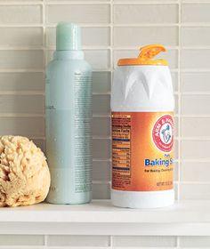 baking soda in shampoo