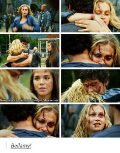 Literally the best hug of all time!!! Bellarke tumblr
