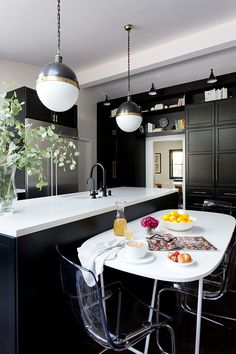 Modern Home With Bold Printed Wallpaper Hgtv Kitchens, Black Kitchens,  White Oval Dining Table 3c3fdc811acd