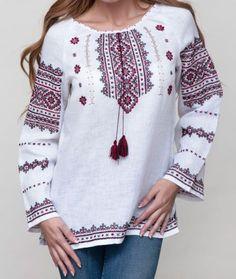 Vyshyvanka women Ukrainian Embroidered blouse white linen red lack pattern S-3XL #Unbranded #Folk #ChristmasWeddingEaster