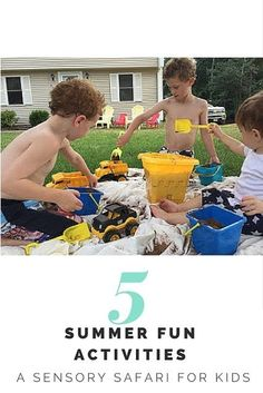SuperMOB, Supporter of Mess: 5 Summer Fun Activities for Kids Hey, Mothers of Boys! Looking for summer fun for kids? Let them get messy with a Sensory Activities Toddlers, Fun Summer Activities, Indoor Activities For Kids, Kids Learning Activities, Fun Activities For Kids, Family Activities, Outdoor Activities, Mothers Of Boys, Homeschool Preschool Curriculum