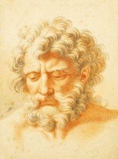 francesco bartolozzi I727 I8I5 • graveur italien, portrait dessin en craie rouge (engraver italian, portrait drawing red chalk) XVIIIe