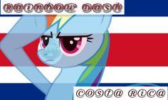 Rainbow Dash Salutes Costa Rica