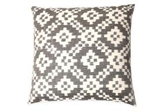 Lex 20x20 Cotton Pillow, Gray on OneKingsLane.com