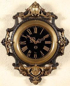 French Napoleon III Period Wall Clock