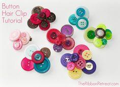 Button Hair Clip Tutorial - using TRR's Button Jars!