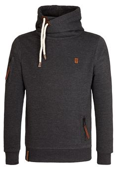 Naketano Men's Hoody PI V (L, Anthracite Melange)