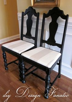 Chair Makeover Tutorial -- amazing transformation --