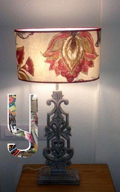 """YERADA Decoración & ZEconZeta - Pantalla de lámpara confeccionada con nuestro tejido """"RICHARD PALMER"""" de la Colección """"SOUL"""" Avenida Cayetano del Toro 42. Centro Comercial NOVO CENTER. Urb. Novo Sancti Petri.11010 Cádiz. España - Tlf: 956 90 15 44 - email: yerada.decoracion@gmail.com   #telas #textil #deco #decoracion #nuevacoleccion #interiorismo #tapiceria #tendencia #fabricante #mayorista #musica #melodia #colores #ZE #ZEconzeta #fabrics #textile #Decor #newcolletion #interiordesign…"""