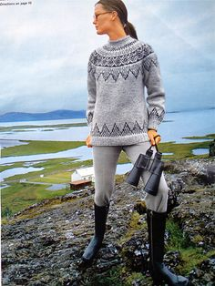 a knit and crochet community Fair Isle Knitting, Hand Knitting, Nordic Sweater, Icelandic Sweaters, Knitting Designs, Pulls, Tweed, Knitwear, Knitting Patterns
