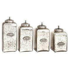 Avalon Lidded Canisters With Tray, Set Of 4 | IMAX | Pinterest | Of, Trays  And Set Of