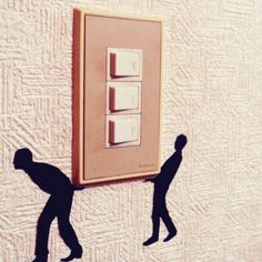 40 Cute and Creative Home Switchboard Art Installation - Bored Art Simple Wall Paintings, Wall Painting Decor, Diy Wall Art, Diy Painting, Wall Art Designs, Paint Designs, Wall Design, Unique Wall Decor, Diy Wall Decor