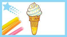 ice cream draw coloring