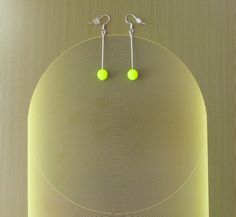 Neon minimalistic earrings (Can´t be overlooked. Minimalist, Neon, Canning, Beads, Earrings, Handmade, Accessories, Jewelry, Home Decor