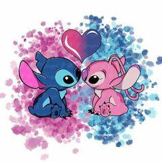 Disney Phone Wallpaper, Cartoon Wallpaper Iphone, Cute Cartoon Wallpapers, Lilo And Stitch Drawings, Lilo And Stitch Quotes, Cute Disney Drawings, Cute Drawings, Stitch And Angel, Cute Stitch