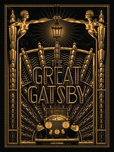"2014 ""The Great Gatsby"" – Movie Poster by Tracie Ching The Great Gatsby – silkscreen event poster (click image for more detail) Artist: Tracie Ching Venue: N/A Location: N/A Date: 2014 Edition: Signed and numbered only Size: x Condition: Mint The Great Gatsby Movie, Great Gatsby Party, 1920s Party, 1920s Wedding, Motif Art Deco, Art Deco Design, Art Deco Posters, Vintage Posters, Kill Bill"