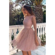Sleeves Short Prom Dress Pink Homecoming Dress with Open - Homecoming Dresses Long Sleeve Homecoming Dresses, Hoco Dresses, Mini Dresses, Sexy Dresses, Summer Dresses, Pretty Dresses, Cute Formal Dresses, Sparkly Homecoming Dresses, Awesome Dresses