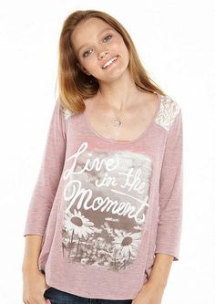 Live In The Moment Tee - Graphic Tees - dELiA*s