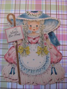 Vintage 1947 Hallmark Doll Card No1 The Land of make by Moonthong, $8.50