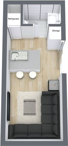 Small Home Plans, Tiny Living, Container House Container Hotel, Container House Plans, Container House Design, Tiny House Design, Tiny Spaces, Small Apartments, Small House Plans, House Floor Plans, Tyni House