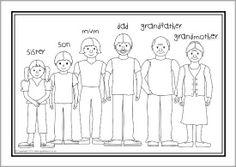 Esl Families Colouring Sheets Sb10268 Sparklebox Family Worksheet My Family Worksheet Family Coloring