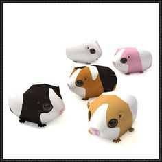 Simple Guinea Pig Free Papercraft Download - http://www.papercraftsquare.com/simple-guinea-pig-free-papercraft-download.html