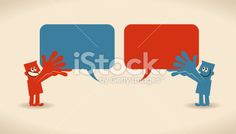 Exchanging of Views Royalty Free Stock Vector Art Illustration