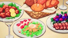 """""""Girls' day out"""" finale dinner, ClassicaLoid, Episode 8."""
