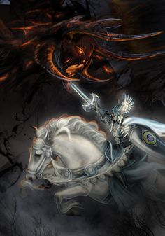 Бива Феанора с Готмогом    Feanor vs Gothmog - Detail by bobgreyvenstein on DeviantArt