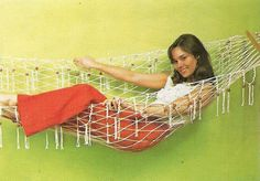 All you need to know to use macrame to make your own hammock. Use it camping, in the back yard, or in your child's room. Make on a smaller scale to hang and organize those stuffed toys in!